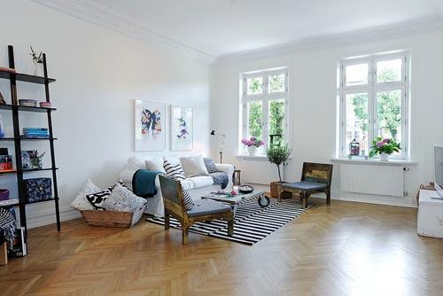 Яркая и креативная квартира в Гетеборге