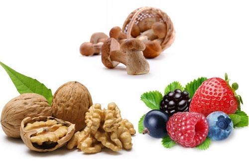 О пользе орехов, ягод и грибов
