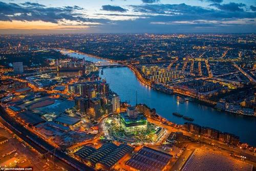 Потрясающие виды Лондона с высты птичьего полета