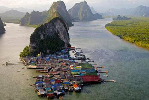 Плавучие деревни и их жители (фото)