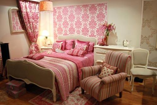 Интерьер спальни в винтажном стиле