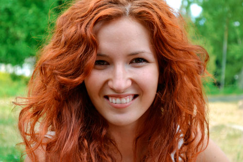 Модные оттенки рыжего цвета волос