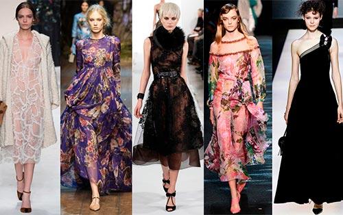 Модные фасоны платьев длины миди и макси