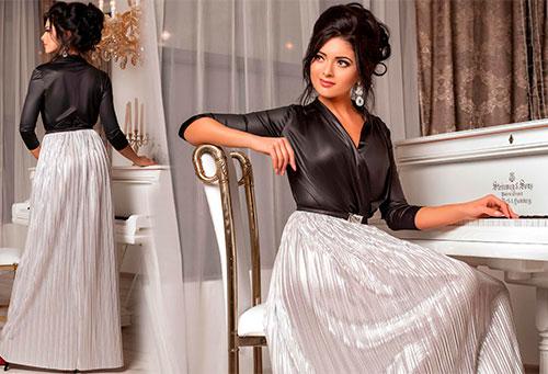 Немеркнущие в плане модности золотистые и серебристые вечерние платья Medini